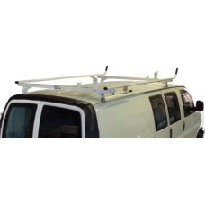 Aluminum Ladder Rack - GMC Savana, Chevy Express - Single Lock Down